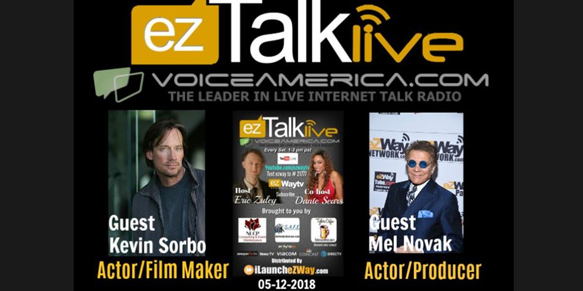 Kevin Sorbo and Mel Novak on EZ TALK LIVE