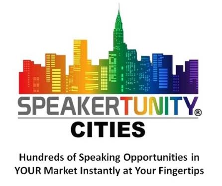 SpeakerTunity Cities Logo with Tag Line