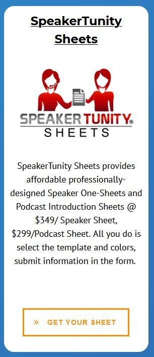 SpeakerTunity Sheets Pillar