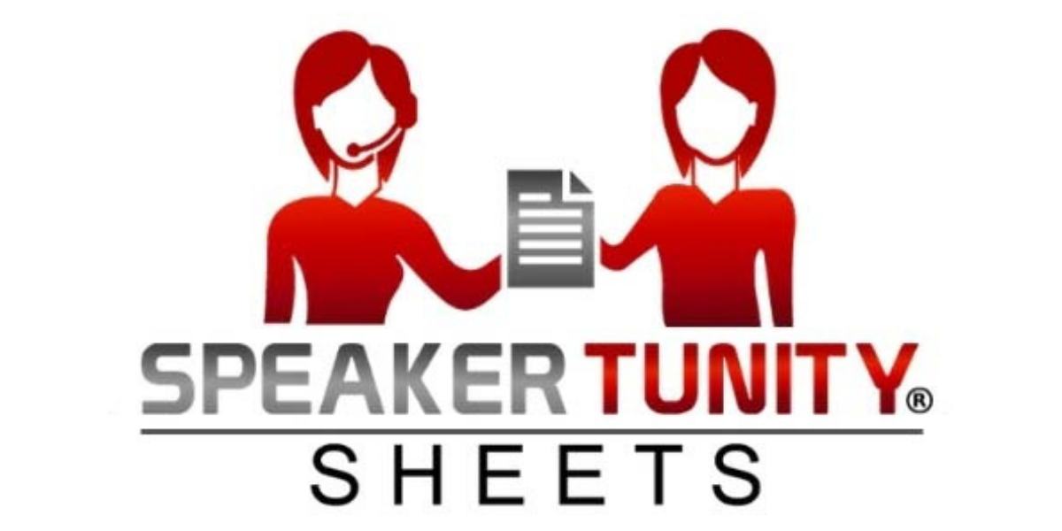 SpeakerTunity Sheets®